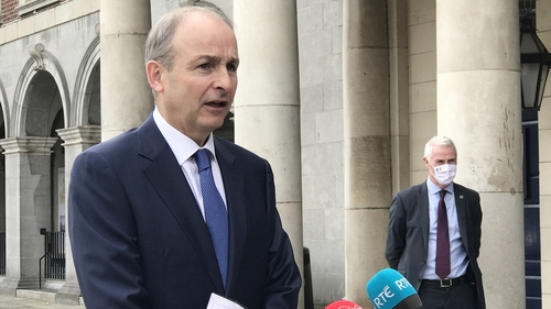 Micheál Martin said the Government will be looking to see if the spike in virus cases is a 'pattern'