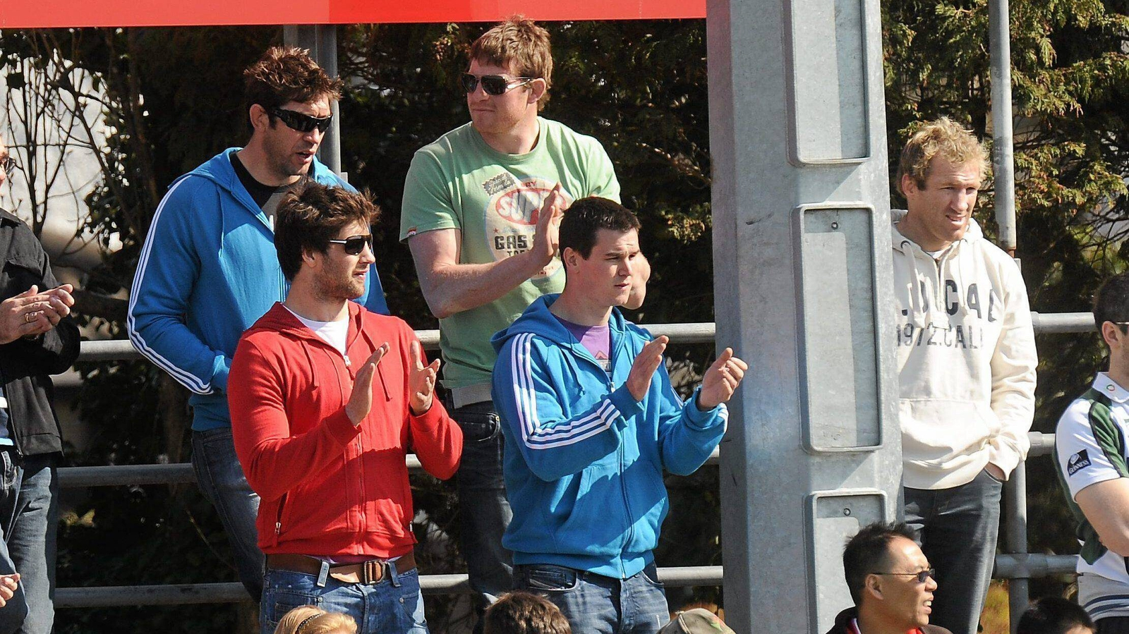 Image - Nathan Hines, Malcolm O'Kelly, Berne, Sexton and Kevin McLaughlin at an AIL league match