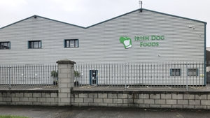 The Irish Dog Foods plant in Naas, Co Kildare remains closed (Rolling News)