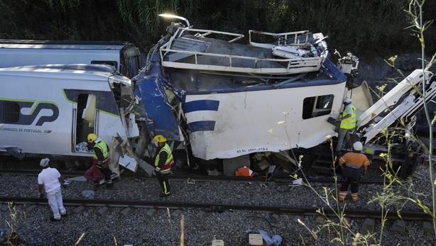 Portugal train crash