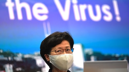 Hong Kong chief executive Carrie Lam warned that the territory is also on the brink of a widespread Covid-19 outbreak