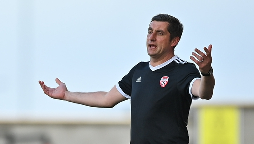 Derry City manager Declan Devine