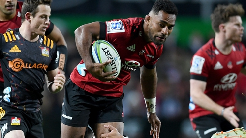 Sevu Reece scored one of the Crusaders' five tries