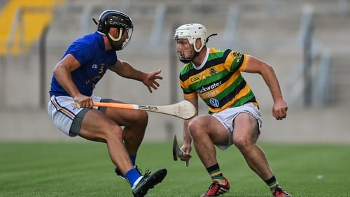 Patrick Horgan of Glen Rovers in action against Glen O'Connor of St. Finbarrs