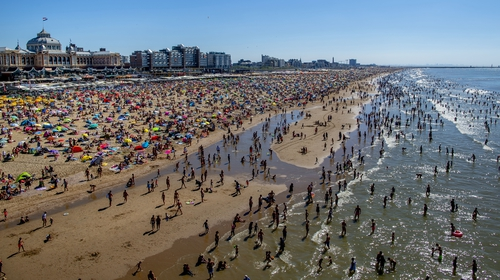 Many parts of Europe, like here in the Netherlands, endured record heat in 2020