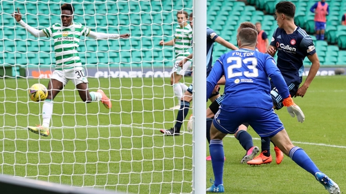 Frimpong scored his side's second goal against Hamilton