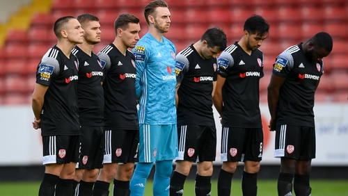 Derry City players remember the great John Hume ahead of the game at Richmond Park
