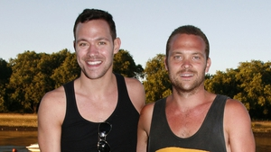 Will Young with his twin brother Rupert