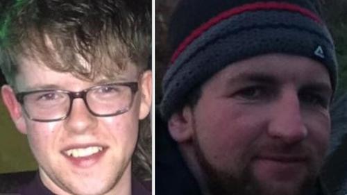 Tadhg Murphy, 19, agus Michael Bowen (ar dheis), 40 a bhásaigh sa tubaiste.