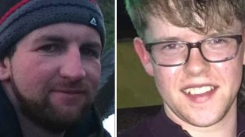 Michael Bowen (L) and Tadhg Murphy (R) both died when the car they were travelling in entered the Glengarriff river