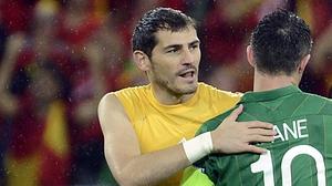 Casillas won 167 caps for Spain