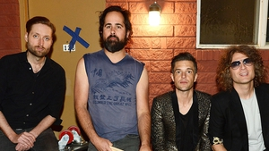 The Killers (l-r): Bass guitarist Mark Stoermer, drummer Ronnie Vannucci Jr., singer Brandon Flowers and guitarist Dave Keuning