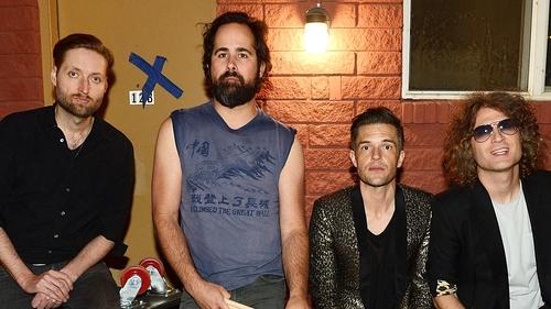 The Killers (l-r): Bass guitarist Mark Stoermer, drummer Ronnie Vannucci Jr., singer Brandon Flowers and guitarist Dave Keuning
