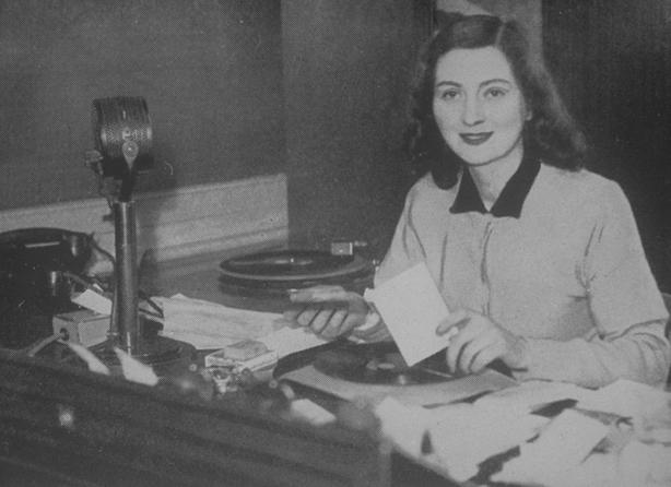 Kathleen Dolan on Radio Eireann's 'Hospitals' Requests' programme, 1948