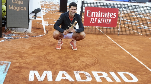 Novak Djokovic won in Madrid in May 2019- the tournament is vital for French Open preparations