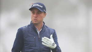 Justin Thomas warms up during a practice round prior to the 2020 PGA Championship at TPC Harding Park