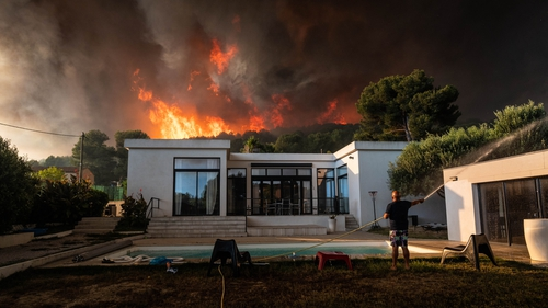 The fires have ravaged about 1,000 hectares of vegetation and are threatening residential areas