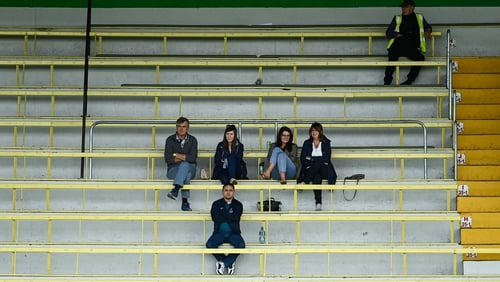 Supporters during the game between Simonstown Gaels and Skryne at Páirc Tailteann in Navan