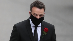 SDLP leader Colum Eastwood attended the funeral