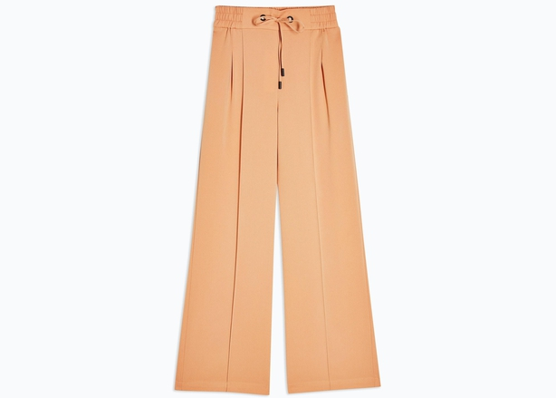 Topshop Jogger Style Wide Leg Trousers in Peach, £23.20 (were £29)
