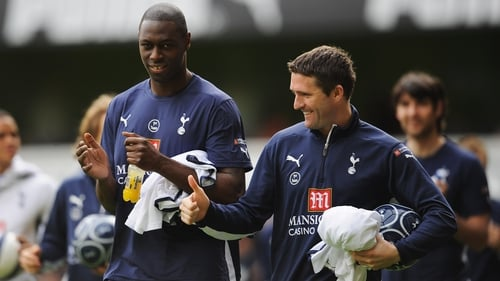 Ledley King and Robbie Keane during their Spurs playing days back in 2009