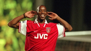 Ian Wright in action for Arsenal back in 1997