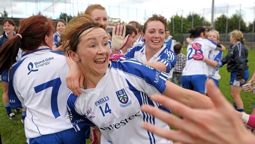 Niamh Kindlon celebrates after victory in the 2012 Ladies National Football League Division 1 final