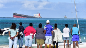 The tanker, belonging to a Japanese company but Panamanian-flagged, was carrying 3,800 tonnes of fuel when it struck a reef at Pointe d'Esny, an internationally-listed conservation site