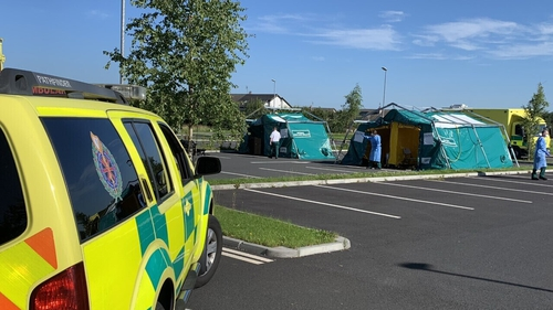 The testing facility in Newbridge is being run by the National Ambulance Service and will be open over the weekend
