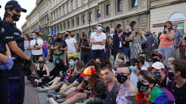 Polish protesters detained over arrest of LGBT activist