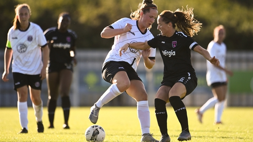 Aisling Spillane of Bohemians in action against Kylie Murphy of Wexford Youths during the opening weekend of the league