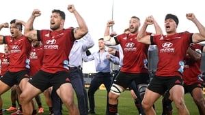 The Crusaders performed a haka after the game