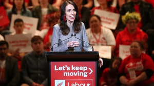 New Zealand Prime Minister Jacinda Ardern at the launch of her election campaign