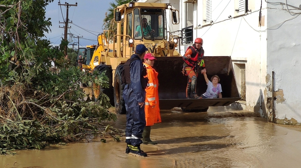 Baby among five people killed by storm on Greek island
