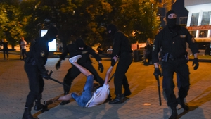 Police and protesters clashed in Minsk