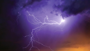 Lightning, hail and localised flooding may occur