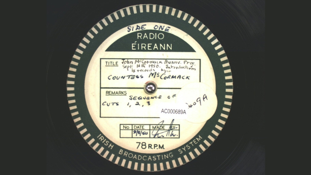 Countess McCormack presents the recordings of her late husband John McCormack (1950)