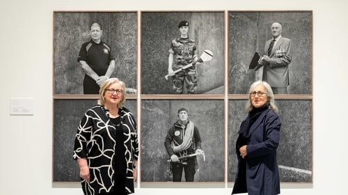 Anna O'Sullivan, Butler Gallery Director and photographer Amelia Stein. Picture: Dylan Vaughan