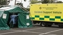 A Covid-19 Testing Centre run by the National Ambulance Service was opened in Newbridge (Pic: RollingNews.ie)