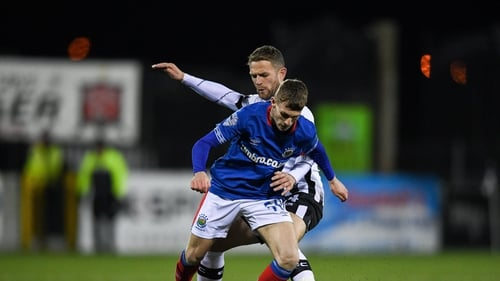 Charlie Allen in action for Linfield during the Unite the Union Champions Cup