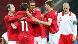Jenas takes the plaudits from Steven Gerrard and Wayne Rooney amongst others after scoring for England in 2008