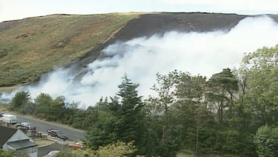 Gorse fires, Rocky Valley, County Wicklow (1995)