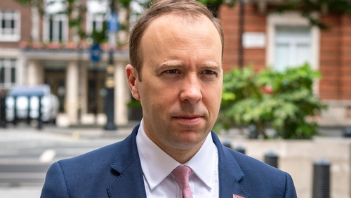 British Health Secretary Matt Hancock ordered a review into the way Covid deaths are reported (file pic)