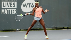 Coco Gauff in action against the second seed in Kentucky