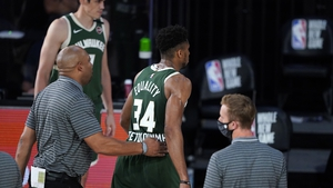 Giannis Antetokounmpo ejected by officials during the NBA clash with Washington Wizards