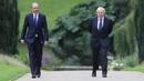Taoiseach Micheál Martin and British Prime Minister Boris Johnson in Northern Ireland last August