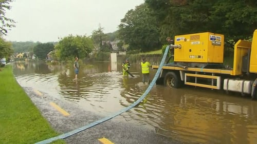 The area was also hit by flooding earlier this week