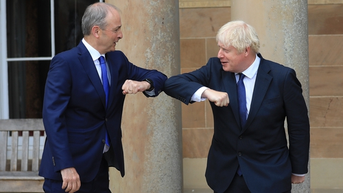 Boris Johnson and Micheál Martin discussed the fight against coronavirus and the UK's post-Brexit trade negotiations