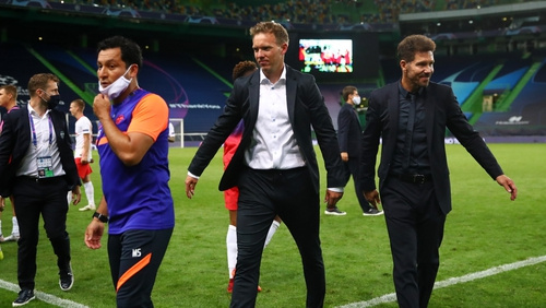 Julian Nagelsmann and his side face PSG in the semis, while Diego Simeone's charges are heading home