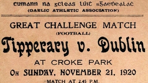 A ticket for the Croke Park match on Bloody Sunday